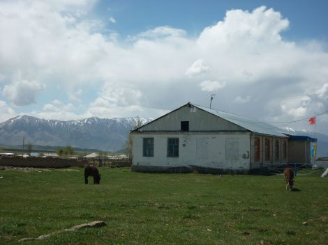 Emgekchil town hall. We visited and interviewed the town's Court of Elders the day before Merim's bride kidnapping.