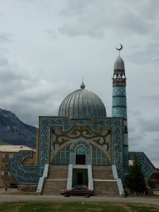 Main mosque of Naryn, the town where we're living.