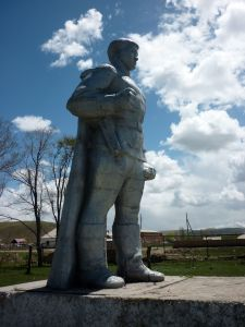 Soviet war monument in Emgekchil, KG.