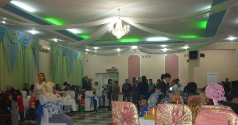 A standard Kyrgyz wedding hall.