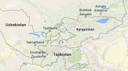 The boundary between the Kyrgyz and Tajik Republics, as it exists on maps today. Roughly half of the border has never been demarcated, and officials have been unable to agree on a basis for resolving their territorial differences. Kyrgyz and Tajiks continue to live in mixed settlements, further complicating any potential demarcation.